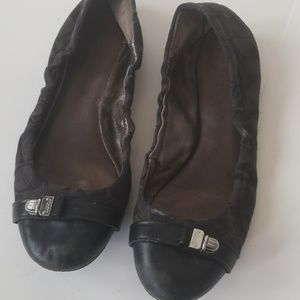 Coach used size 7 womens flats black slip on
